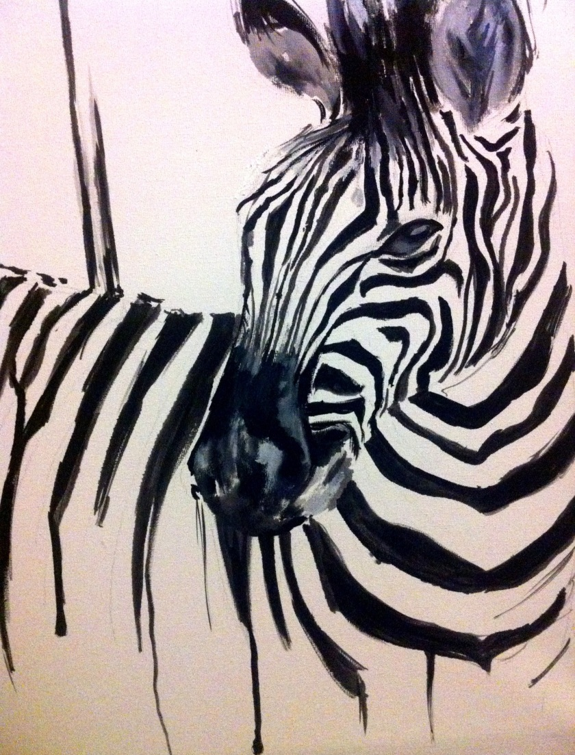 zebra oil painting - photo #34