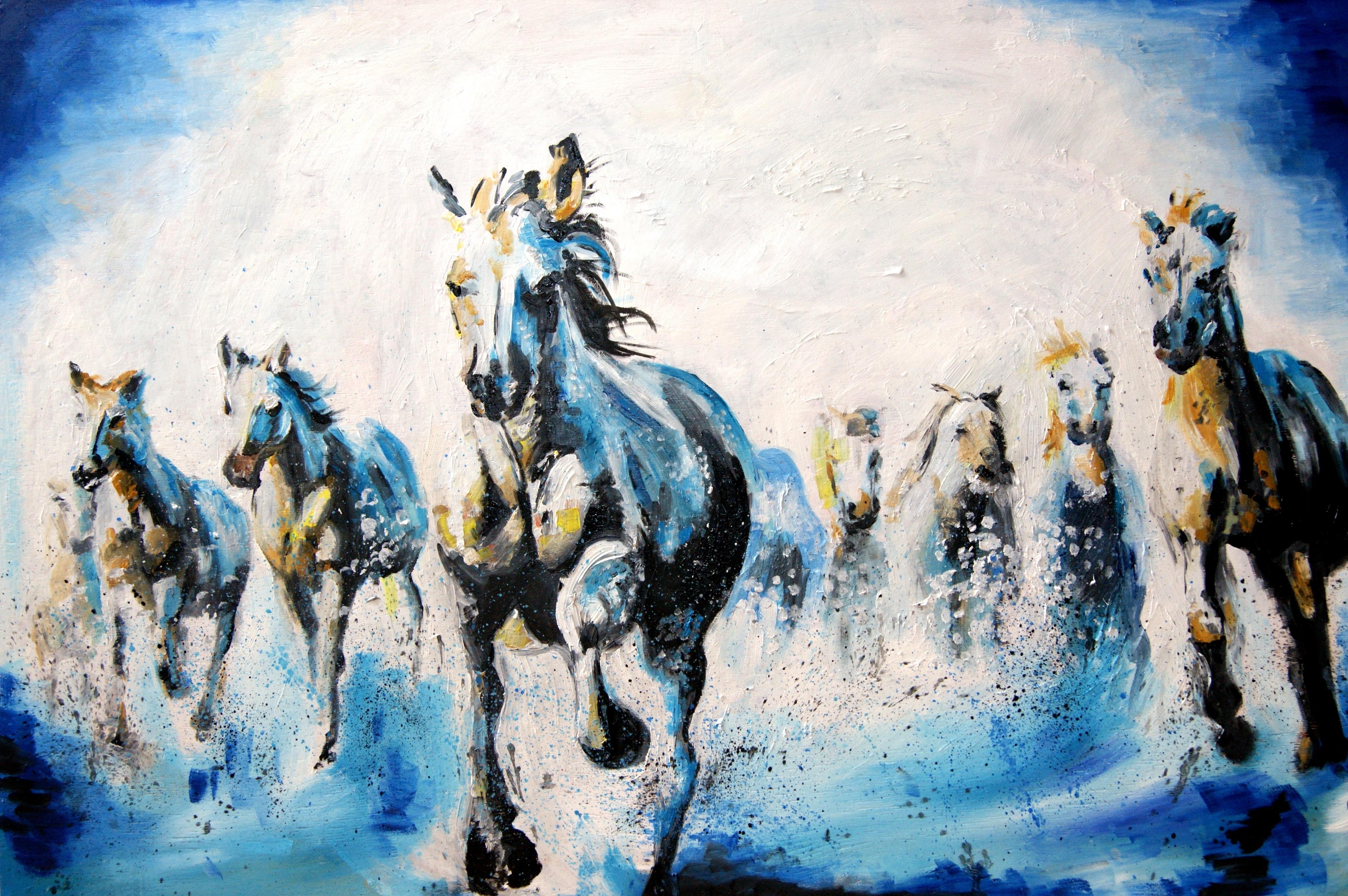 Galloping Horses Oil Painting | Katy Jade Dobson ART