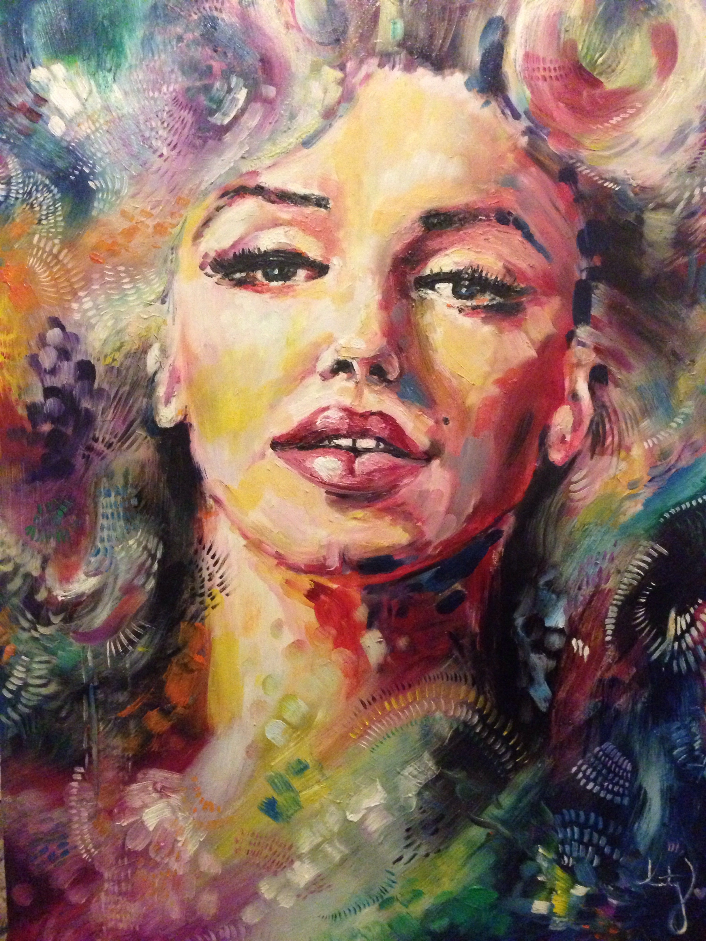 Marilyn Monroe Oil Painting – Iconic Women Collection | Katy Jade ...