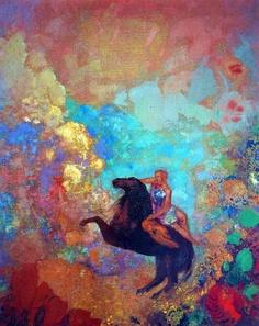 'Muse on Pegasus' - Odilon Redon