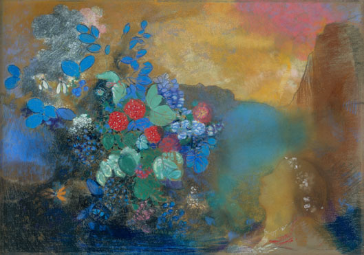 'Ophelia among the flowers' - Odilon Redon