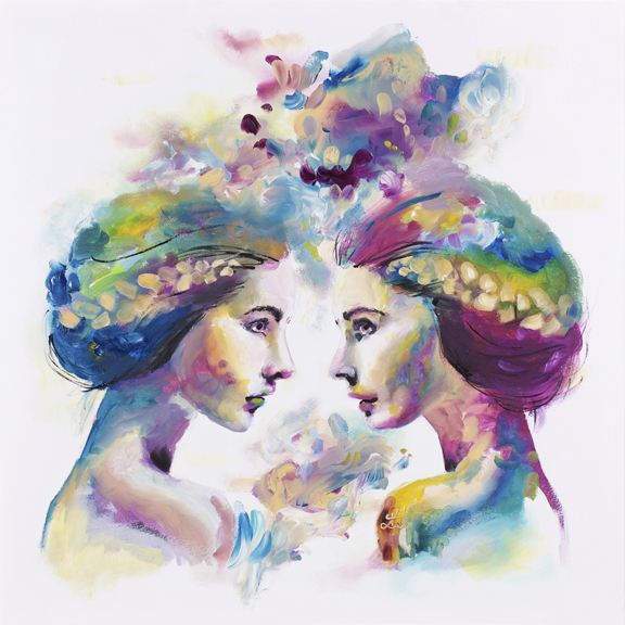 'Sky' A peaceful and subtle study of symmetrical figures, paying attention to colours and textures to show for light and tone