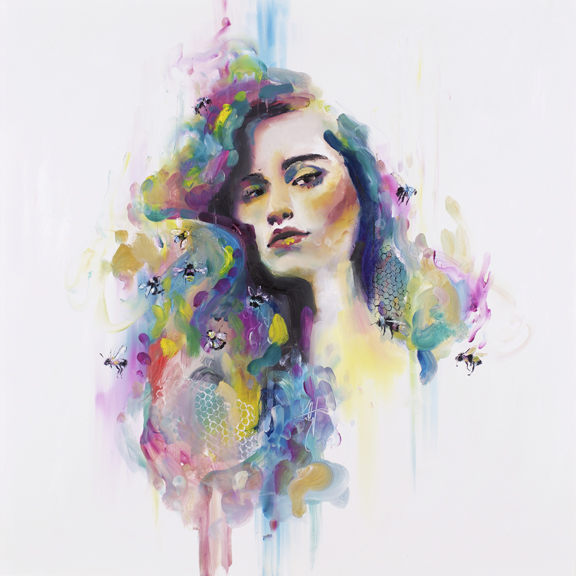 'Royal Jelly'  Bees produce royal jelly to feed to the larva of a potential queen bee. A single subject becoming built upon to thrive above others.The focus of adorning and embellishing a single subject can feel like adding charactoristics to a humble small beginning.