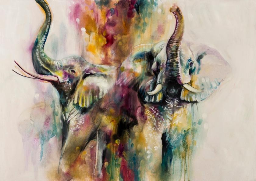 Elephants-Opaline