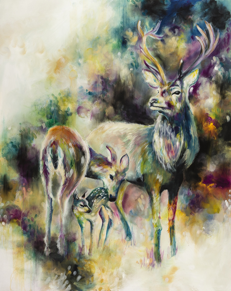 Family of stags